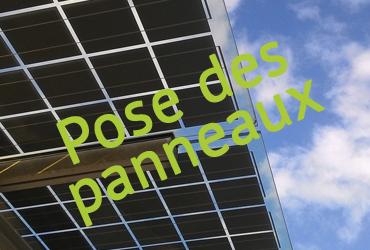 Travaux de l'ombrière photovoltaïque sur le parking du SymielecVar #4