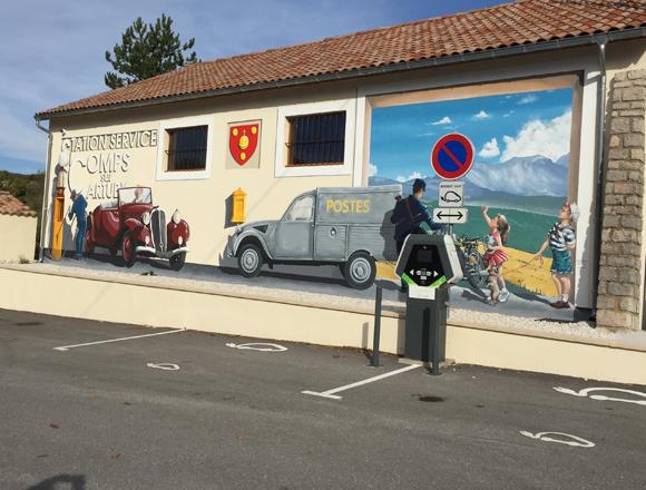 Borne à Comps-sur-Artuby